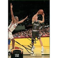 Signed Kerr Steve Orlando Magic 1993 Topps Basketball Card autographed