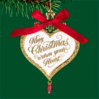 "Carlton Heirloom ""May Christmas Warm Your Heart"" Ornament #3740371"