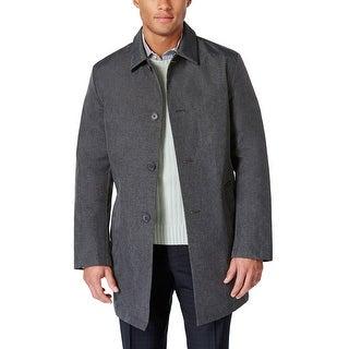 DKNY Mens Waterproof Raincoat Grey Coat 38 Short 38S