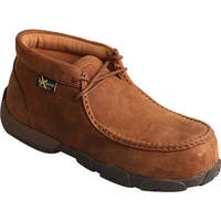Twisted X Boots Women's WDMCTM1 Driving Moc Distressed Saddle Leather