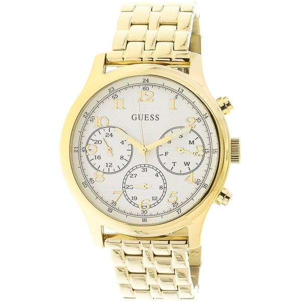 e813e8ed3f13 Shop Guess Women s Gold Stainless-Steel Japanese Quartz Fashion Watch -  Free Shipping Today - Overstock - 18615527