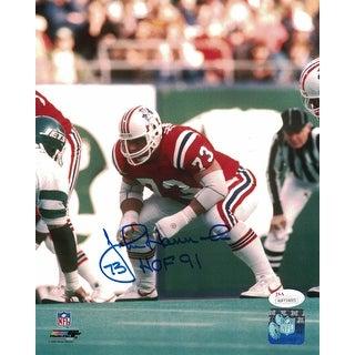 John Hannah Autographed New England Patriots 8x10 Photo HOF JSA