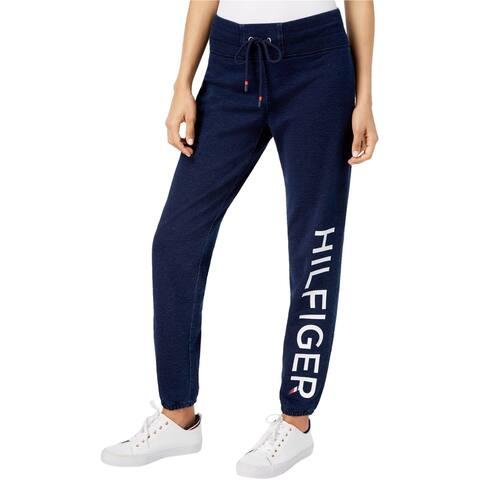 Tommy Hilfiger Womens drawstring Athletic Sweatpants blue XL