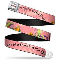 Adventure Time Logo White Full Color Jake Lady Raincorn My Boyfriend Is A Seatbelt Belt
