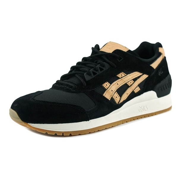 Asics Gel Respector Women Round Toe Suede Black Sneakers