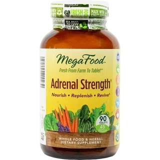 MegaFood Adrenal Strength - 90 Tablets | Herbal Dietary Supplement | Healthy Stress Response | Fatigue Resistance