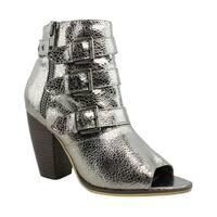 Michael Antonio Womens Silver Open Toe Heels Size 6.5