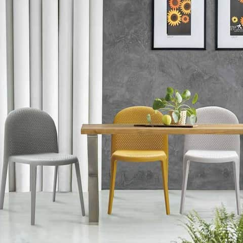 (Set of 2) LIPPERLI Outdoor Patio Cafe Stackable Dining Chair
