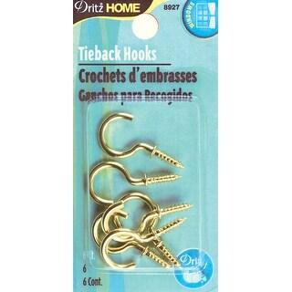 Tie Back Hooks 6/Pkg-
