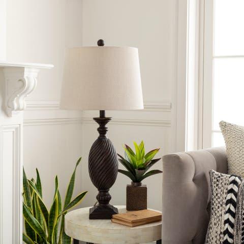 "Dafne Transitional Twist Pillar 28-inch Table Lamp - 28""H x 14""W x 14""D"
