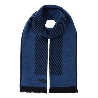 Missoni SC12WOU5084 0001 Blue/Black 100% Wool Scarf