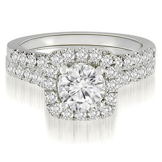 1.27 CT.TW Halo Round Cut Diamond Bridal Set - White H-I (Option: 8.75)|https://ak1.ostkcdn.com/images/products/is/images/direct/5ed13141045f020ddcf068dba2c742f17575347e/1.27-CT.TW-Halo-Round-Cut-Diamond-Bridal-Set.jpg?impolicy=medium