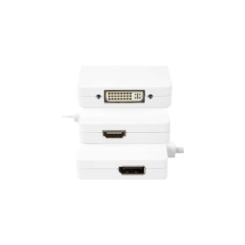 Rocstor YMDHDD-WH Rocstor Mini Displayport to HDMI Adapter - Mini-DVI/HDMI/DVI-D for Audio/Video Device, Notebook, Monitor,