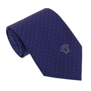 Versace Blue Woven Micro Neat Tie