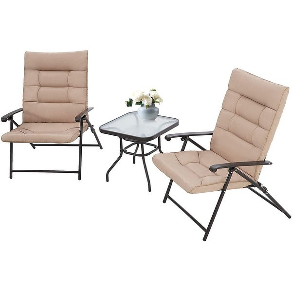 SUNCROWN 3 Piece Outdoor Patio Folding Chairs. Opens flyout.