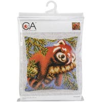 Collection D'art Stamped Needlepoint Cushion Kit 40X40cm-Red Panda