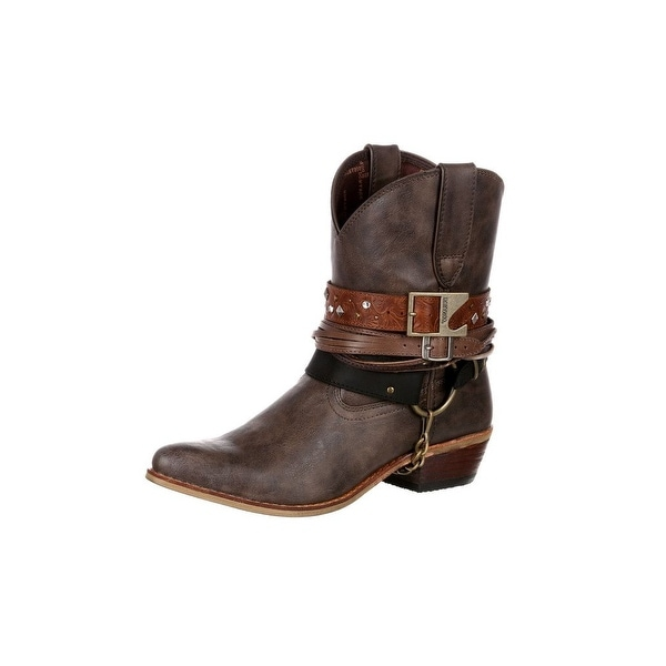 Durango Western Boots Womens Crush Accessory Bootie Brown