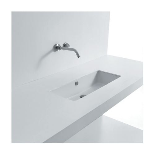 Ws Bath Collections Sub 53 Ws14001f 21 Ceramic Undermount Bathroom Sink With Single Faucet