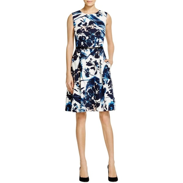 Shop Adrianna Papell Womens Wear To Work Dress Twill