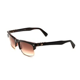 John Galliano Women's Half Frame Sunglasses Tortoise/Orange - Clear - Small