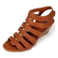 Cliffs by White Mountain Womens VIVALDI Open Toe Casual Slingback Sandals