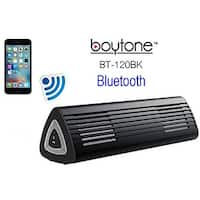 Boytone BT-120BK Portable Wireless Bluetooth Speaker, Built-in Microphone, Rechargeable battery, Works with all Smart Phones