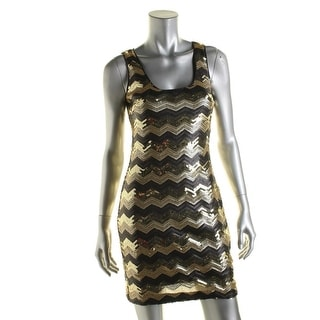 Guess Womens Sequined Chevron Party Dress