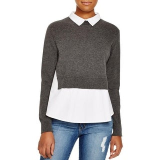 French Connection Womens Fresh Knits Blouse Layered Long Sleeves