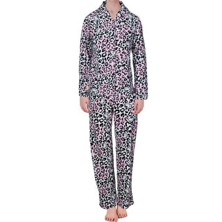 Hello Kitty Womens Lovely Dreamer Fleece Satin Trim Pajama Set