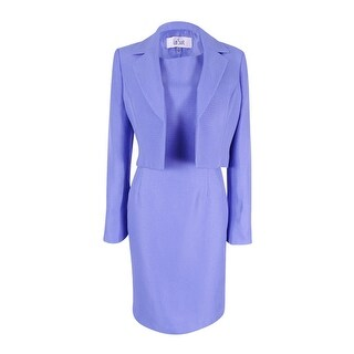Le Suit Women's Textured Jacket & Sheath Dress