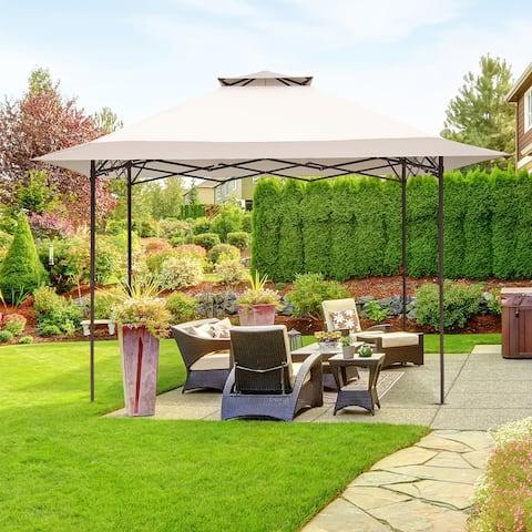 Ainfox 13x13FT 2-Tier Patio Gazebo Outdoor Pop-Up Canopy Tent