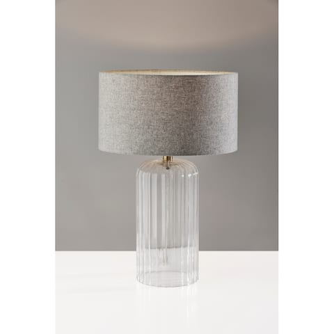 Carrie Ribbed Glass Large Table Lamp