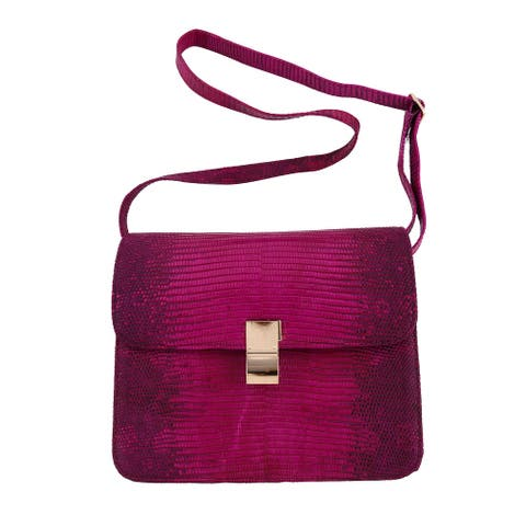 The Pelle Handmade Leather Pink Color Crossbody Bag
