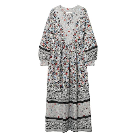 See by Chloe Womens Floral Print Patchwork Dress
