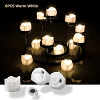 LED Tealight Candles Battery Operated Flameless smokeless Flickering Flashing Lot 6 PCS for Party, Warm White