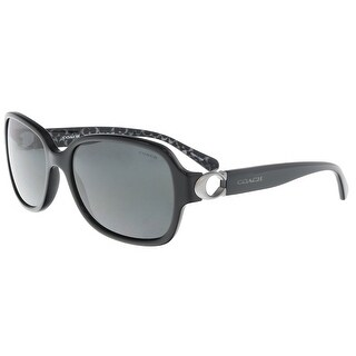 Coach HC8241 551087 Black Rectangle Sunglasses - 57-17-140