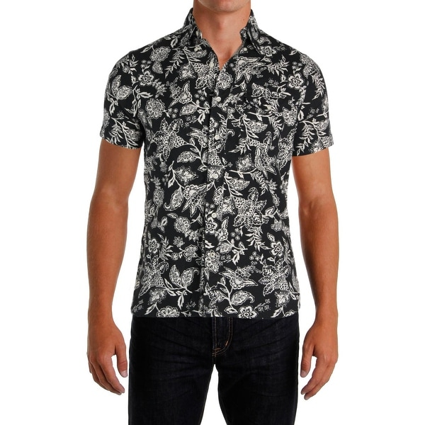 159cd3607 Shop Polo Ralph Lauren Mens Button-Down Shirt Floral Print Standard ...