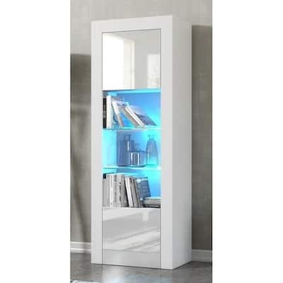 Milano Matte LED Bookcase w/ High-gloss Front