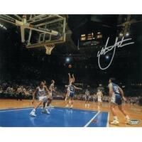 Christian Laettner signed Duke Blue Devils Horizontal 8x10 Photo 1992 The Shot vs Kentucky Buzzer B