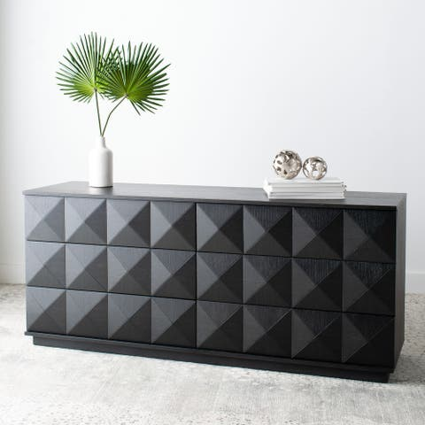 SAFAVIEH Couture Patty Contemporary 6-drawer Black Dresser