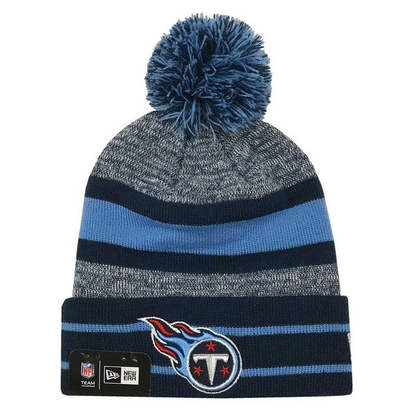 5b9fa19d5b7 Shop New Era 2019 NFL Tennessee Titans Cuff Pom Knit Hat Beanie Stocking  Winter Skull - Free Shipping On Orders Over  45 - Overstock - 27994371