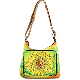 Anuschka 7178 Women Leather Messenger - Yellow