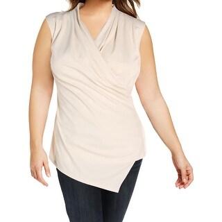 Lauren Ralph Lauren Womens Zorina Pullover Top Sleeveless Surplice