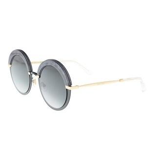 Link to Jimmy Choo Gotha/S 0THP Black Round Sunglasses - 50-22-145 Similar Items in Designer Handbags