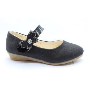 Little Girls Black Red Glitter Rhinestone Mary Jane Dress Shoes