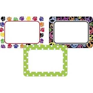 Teacher Created Resources Colorful Name Tags, 3-1/2 x 2-1/2 Inches, Pack of 108
