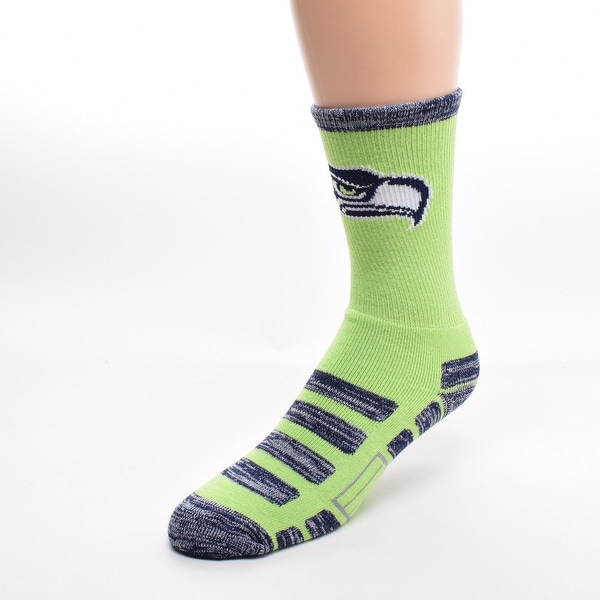 Seattle Seahawks For Bare Feet NFL Patches Team Socks