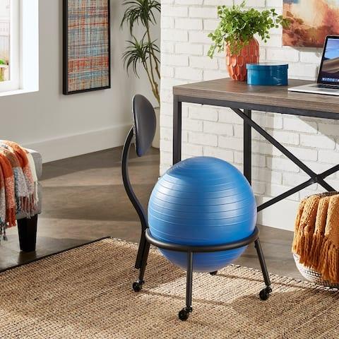 Batavia Blue Balance Ball Chair by iNSPIRE Q Classic
