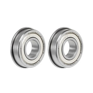 "FR8ZZ Flange Ball Bearing 1/2""x1-1/8""x5/16"" Double Shielded Chrome Bearings 2pcs - 2 Pack - FR8ZZ (1/2""x1-1/8""x5/16"")"