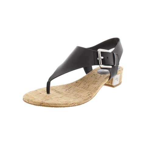 MICHAEL Michael Kors Womens London Thong Sandals Leather T-Strap